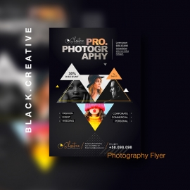 Black Portfolio & Photography Flyer