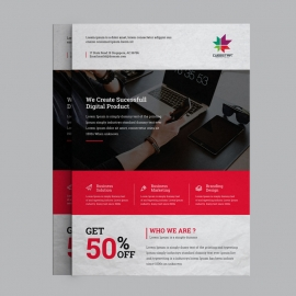 Black Red Corporate Business flyer