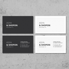 Black & White Business Card