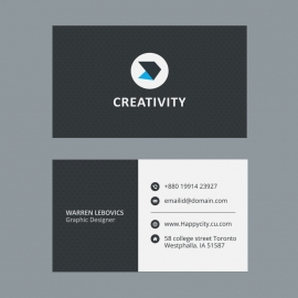 Black & White Business Card Design