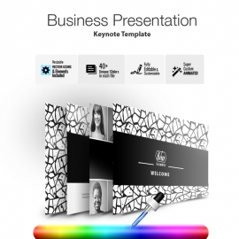 Black & White Business Keynote Presentation Template