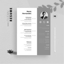 Black & White Clean Resume