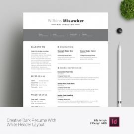 Black White Creatie Resume And CV Design Layout