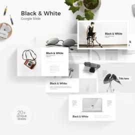 Black & White Google Slide Template
