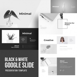 Black & White Google Slide Template