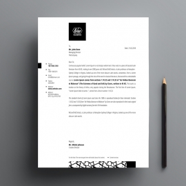Black & White Letterhead Template