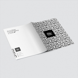 Black & White Presentation Folder
