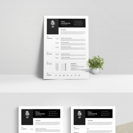 Black & White Resume