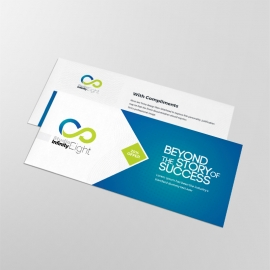 Blue Accent Business Compliment Card
