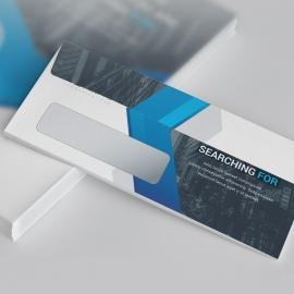 Blue Accent Business DL Envelope Commercial
