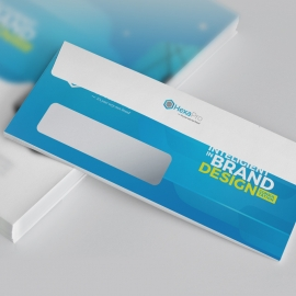 Blue Accent Business DL Envelope Commercial