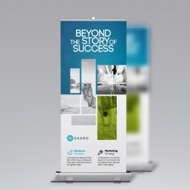 Blue Accent Business Rollup Banner