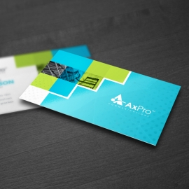 Blue Accent Creative Business Card With Boxs