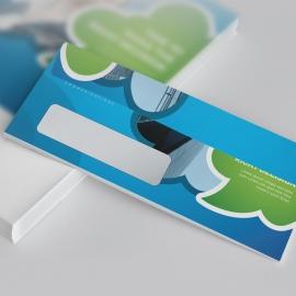 Blue Accent DL Envelope Commercial Size