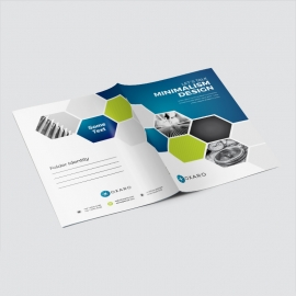 Blue Accent Infographic Business Presentation Folder
