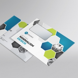 Blue Accent Professional Business B5 Envelope