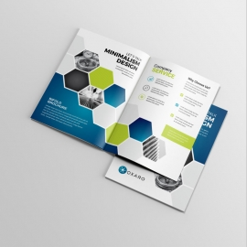 Blue Accent Professional Business BiFold Brochure