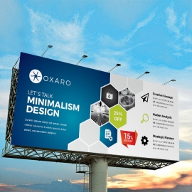 Blue Accent Professional Business Billboard Banner