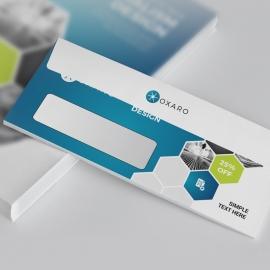 Blue Accent Professional Business DL Envelope Commercial