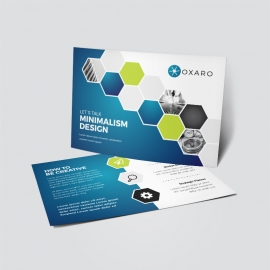 Blue Accent Professional Business Postcard