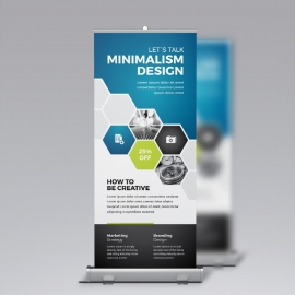 Blue Accent Professional Business Rollup Banner