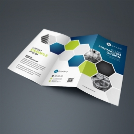 Blue Accent Professional Business TriFold Brochure
