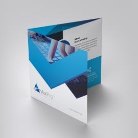 Blue Accent Square TriFold Brochure