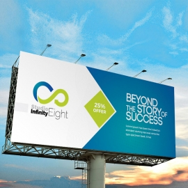 Blue And Green Accent Business Billboard Banner
