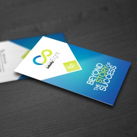 Blue And Green Accent Business Card