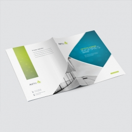 Blue And Green Accent Business Presentation Folder
