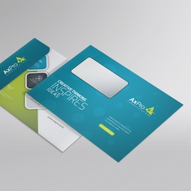 Blue And Green Clean Business B5_Envelop