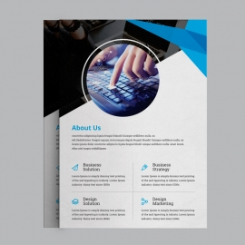 Blue Business Flyer Design