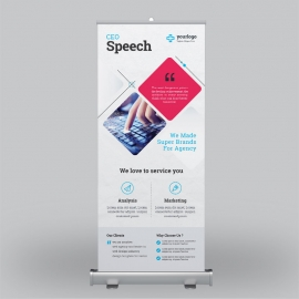 Blue Business Roll-Up Banner