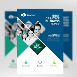 Blue Color Business Flyer