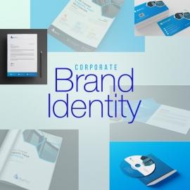 Blue Corporate Brand Identity