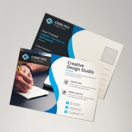 Blue Corporate Postcard
