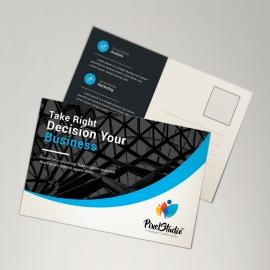 Blue Corporate Postcard
