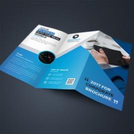 Blue Corporate TriFold Brochure