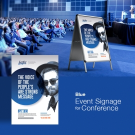 Blue Event Signage For Conference