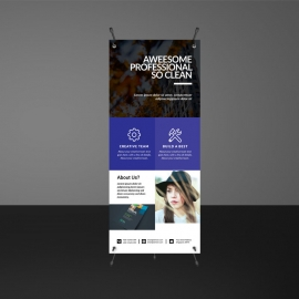 Blue Rollup Banners Template