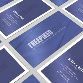Blue Style Business Card Portrait