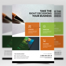 Boxs Corporate Flyer Template
