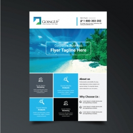 Boxs Cyan Accent Flyer Template