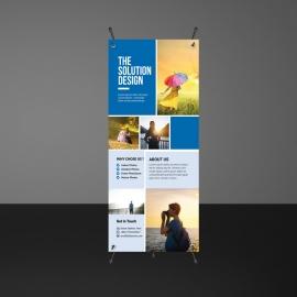 Boxs Design Rollup Banner Template
