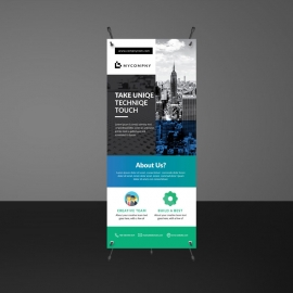 Boxs Simple Rollup Banner