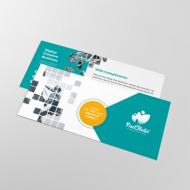Boxs Style Business Compliment Card With Paste Accent
