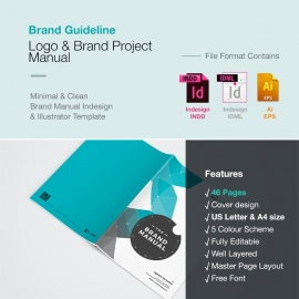 Brand Identity Guideline Manual Booklet Brochure