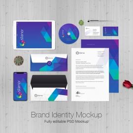 Brand Identity Stationery Mockup