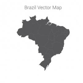 Brazil Map Dark Vector Design
