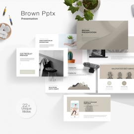 Brown Powerpoint Presentation Template
